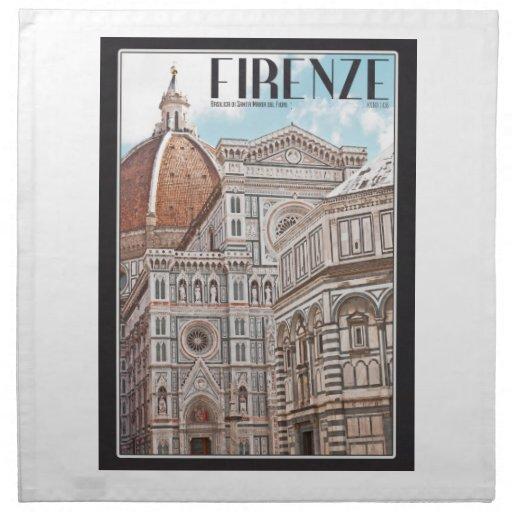 Firenze Duomo Printed Napkin