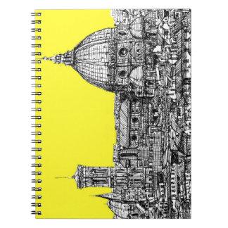 Firenze en amarillo amarillo cuaderno