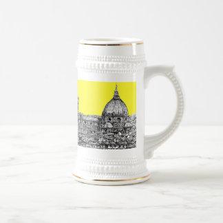 Firenze en amarillo amarillo jarra de cerveza