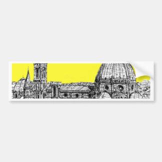 Firenze en amarillo amarillo pegatina para auto