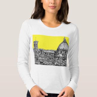 Firenze en amarillo amarillo playera