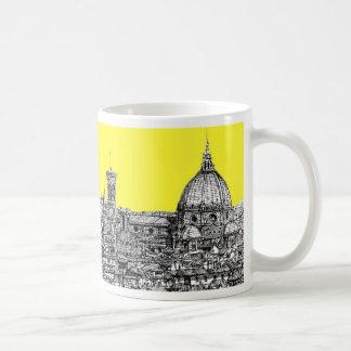 Firenze en amarillo amarillo taza básica blanca