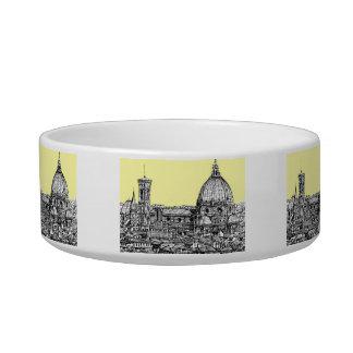 Firenze en amarillo amarillo tazón para gato