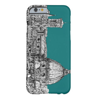 Firenze en turquesa funda de iPhone 6 barely there
