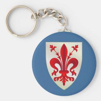 Firenze (Florence) Basic Round Button Keychain