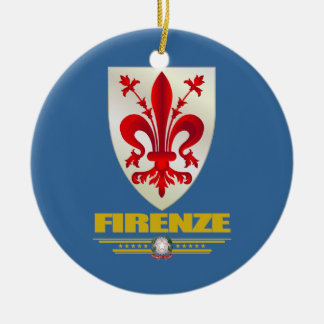 Firenze (Florence) Double-Sided Ceramic Round Christmas Ornament