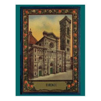 Firenze, Florencia, cubierta de libro de la postal