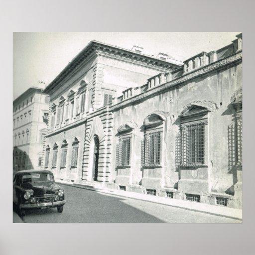 Firenze, Florencia, Palazzo Pandolini Impresiones
