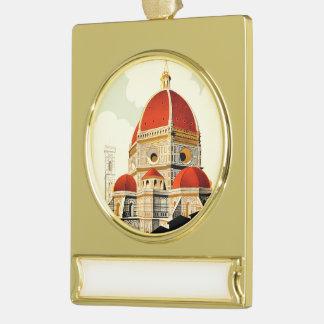 Firenze Gold Plated Banner Ornament