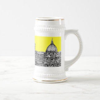 Firenze in canary yellow beer stein