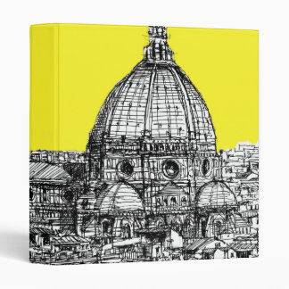 Firenze in canary yellow binder