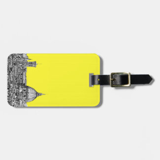Firenze in canary yellow luggage tag