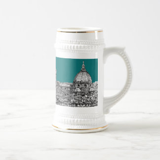 Firenze in turquoise beer stein