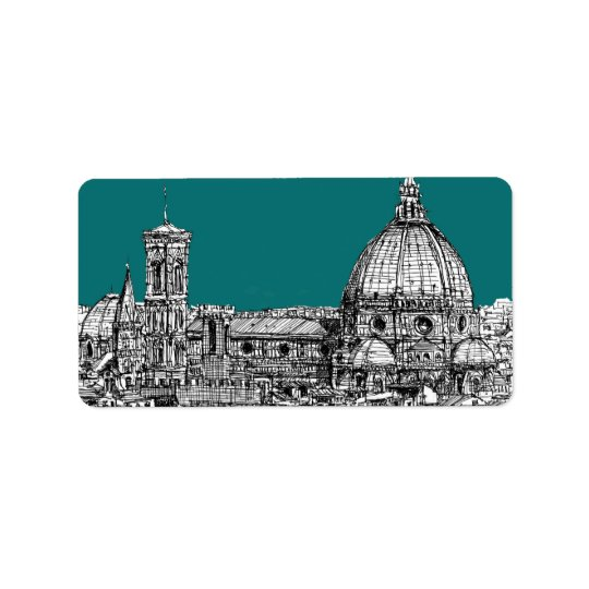 Firenze in turquoise label