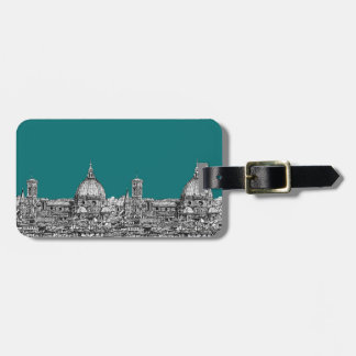 Firenze in turquoise travel bag tags