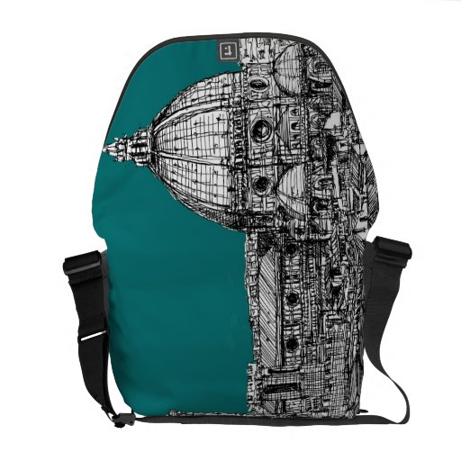 Firenze in turquoise messenger bags