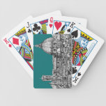 Firenze in turquoise poker cards