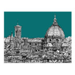 Firenze in turquoise post card