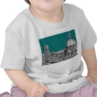 Firenze in turquoise t-shirt