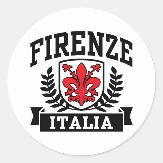 Firenze Italia Classic Round Sticker