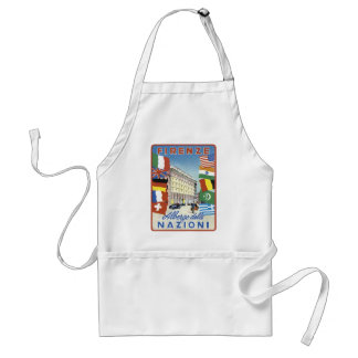 Firenze Nazioni Travel Poster Aprons