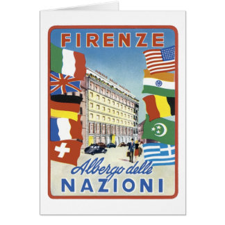 Firenze Nazioni Travel Poster Cards