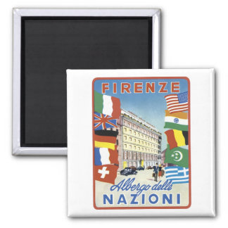 Firenze Nazioni Travel Poster Magnet