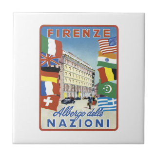 Firenze Nazioni Travel Poster Tiles