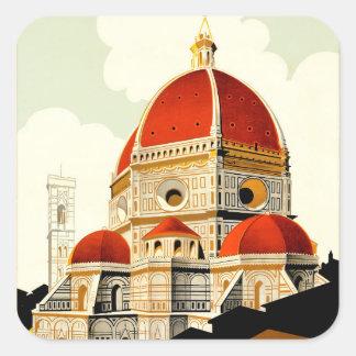 Firenze Pegatina Cuadrada