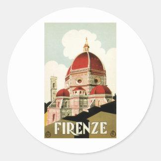 Firenze Pegatina Redonda