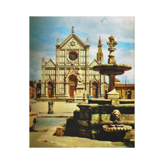 Firenze S. Croce church Canvas Print
