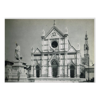 Firenze, S. Croce Church Italy Poster