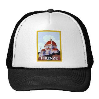 Firenze ~ Vintage Italian Travel Trucker Hat