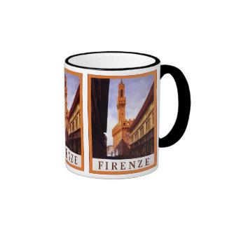 Firenze ~ Vintage Italian Travel Ringer Mug