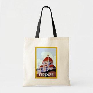 Firenze ~ Vintage Italian Travel Tote Bag