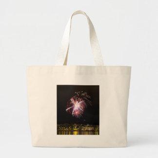 Fireowrks Large Tote Bag
