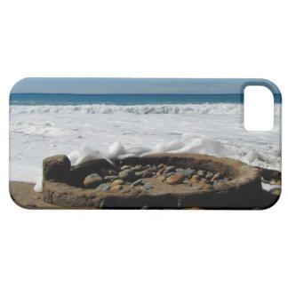 Firepit en la playa; Ningún texto iPhone 5 Fundas
