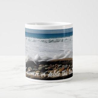 Firepit on the Beach; Customizable Giant Coffee Mug