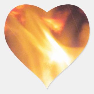 Firepit Pegatina En Forma De Corazón