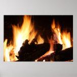 Fireplace Canvas Print