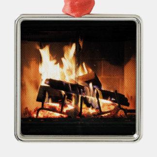 Fireplace Christmas Ornament