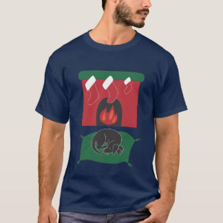 Fireplace Doggy T-Shirt