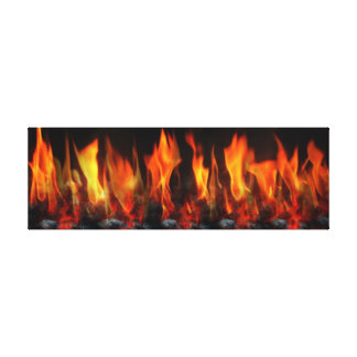 Fireplace Flame Wall Art Gallery Wrapped Canvas