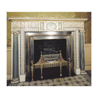 Fireplace from Syon House, Middlesex, c.1760 Canvas Print