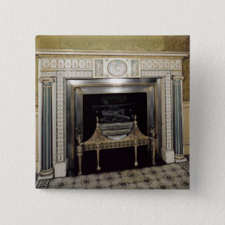 Fireplace from Syon House, Middlesex, c.1760 Pinback Button