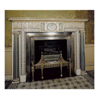 Fireplace from Syon House, Middlesex, c.1760 Poster