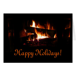 Fireplace Holiday Card
