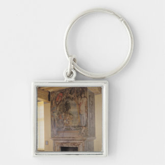Fireplace in the Chambre du Roi Keychain