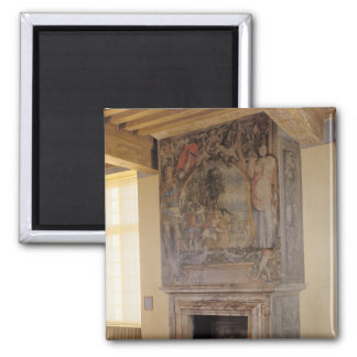 Fireplace in the Chambre du Roi Fridge Magnets