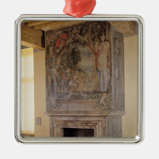 Fireplace in the Chambre du Roi Metal Ornament